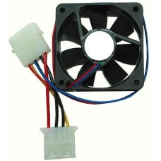 60MM CASE FAN -  (BLACK, 4 pin molex)