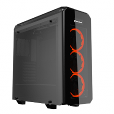 Cougar Puritas Glass Gaming case 3x Vortex Red LED Fans
