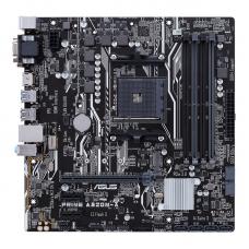 Asus AMD A320 chipset, AM4 socket for Ryzen, 4 x DIMMs, max. 64GB, MultiVGA: HDMI, DSub, DVID, Realtek ALC 887VD2 Audio, 4 SATA 6GB/s connectors